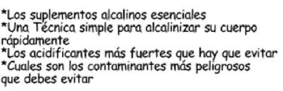 Dieta Alcalina contenido 2